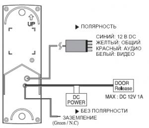 Kocom KC-MC20 схема подключений