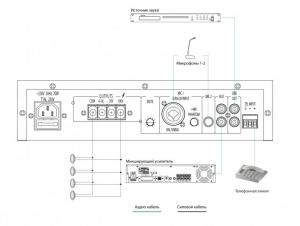 Схема подключений усилителя IPA-40