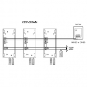 Kocom KDP-601A схема подключения