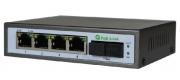 PoE-Link PL-541GS-FB 96Вт PoE коммутатор с оптическим портом SC (WDM)