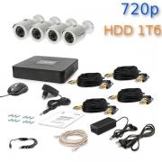 Комплект видеонаблюдения Tecsar 4OUT + HDD 1 Тб