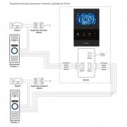 Видеодомофон Slinex SQ-04 схема подключения